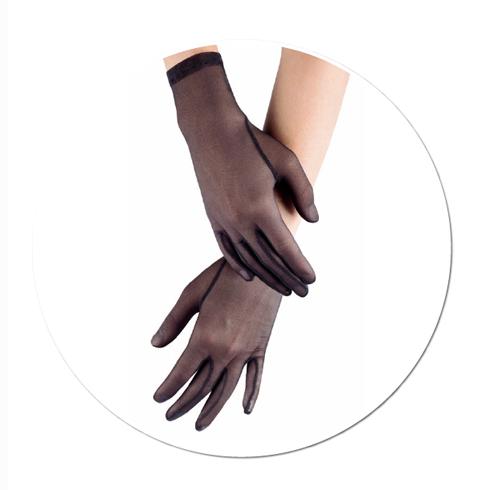 gants tulle noir Cervin