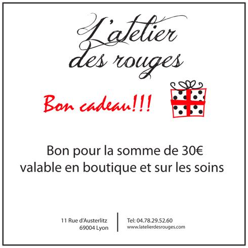 bon cadeau pour achat ou prestation l 39 atelier des rouges. Black Bedroom Furniture Sets. Home Design Ideas