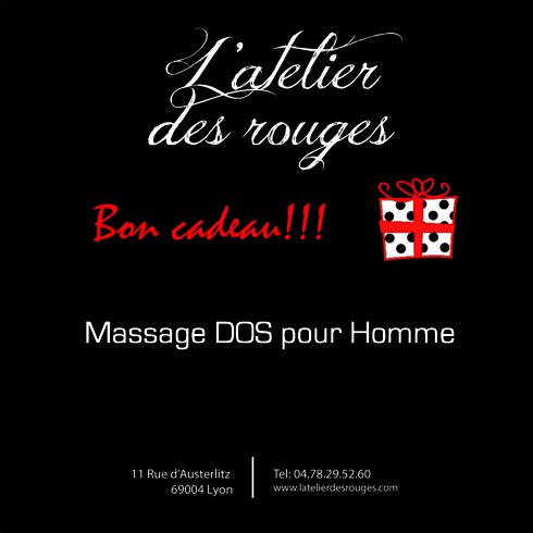 Bon cadeau massage du dos Homme